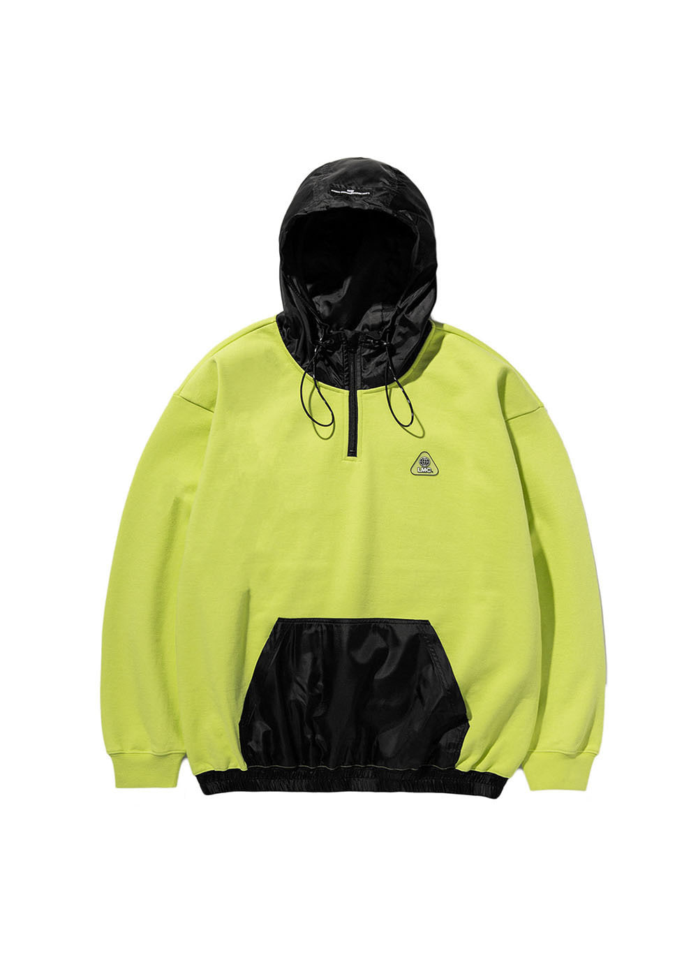 LMC MIX QUARTER ZIP-UP OVERSIZED HOODIE lime