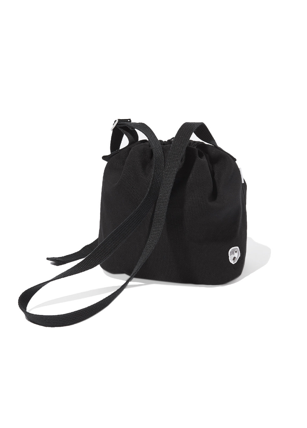 KANCO CANVAS CROSS BASKET BAG black