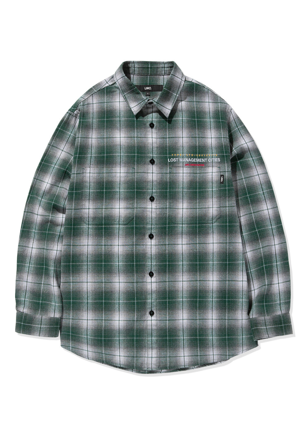 LMC OMBRE PLAID SHIRT green