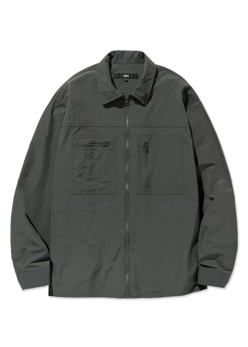 20SS LMC FULL ZIP WORK SHIRT gray