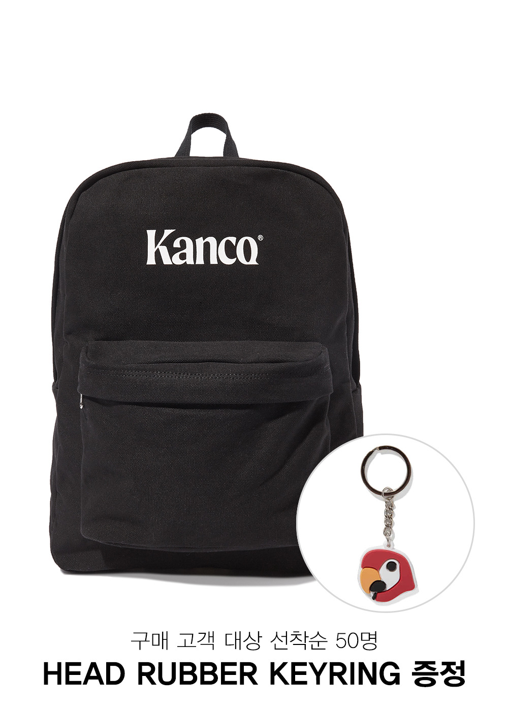 KANCO CANVAS BACKPACK black