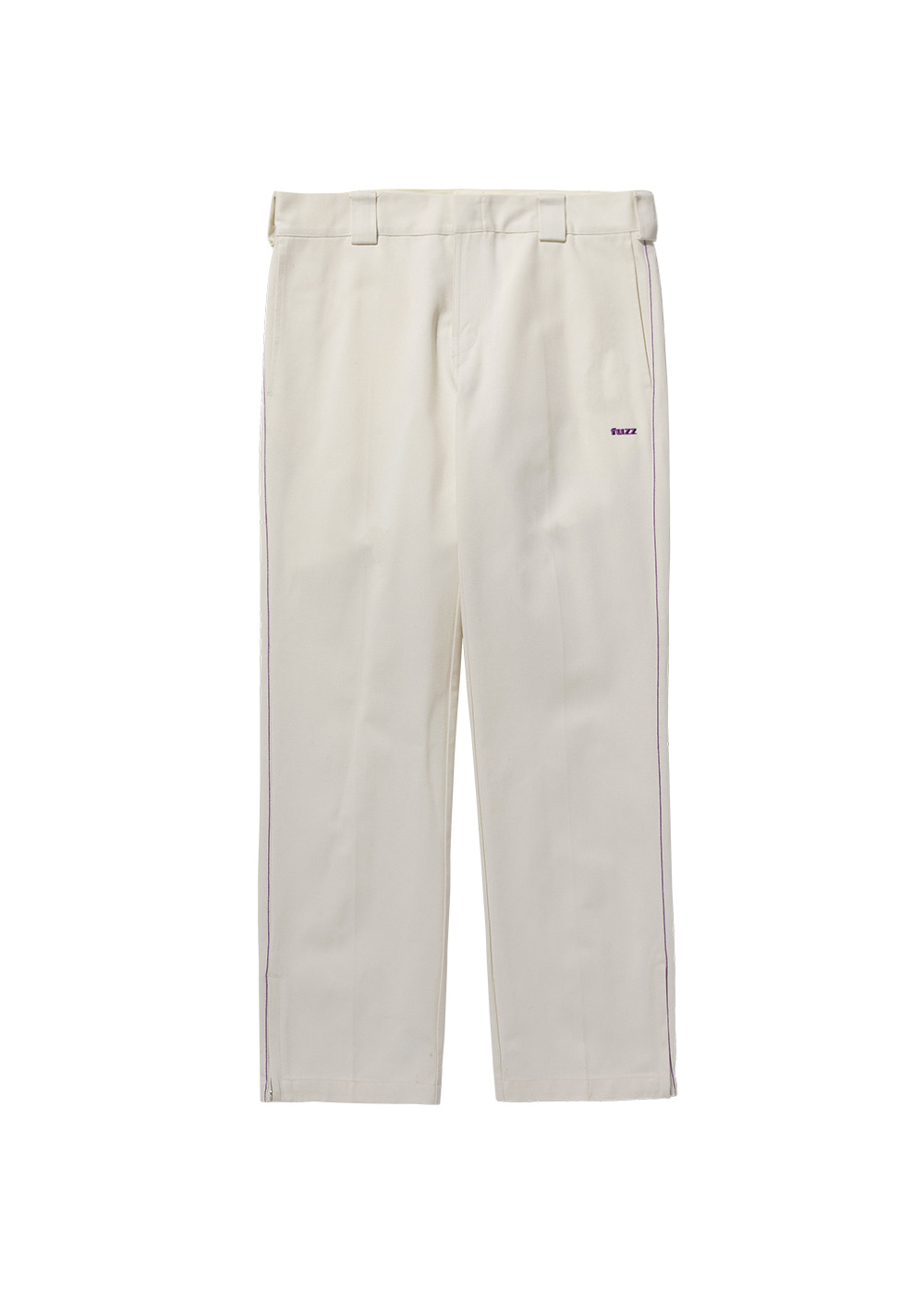 FUZZ SIDE ZIP PANTS cream