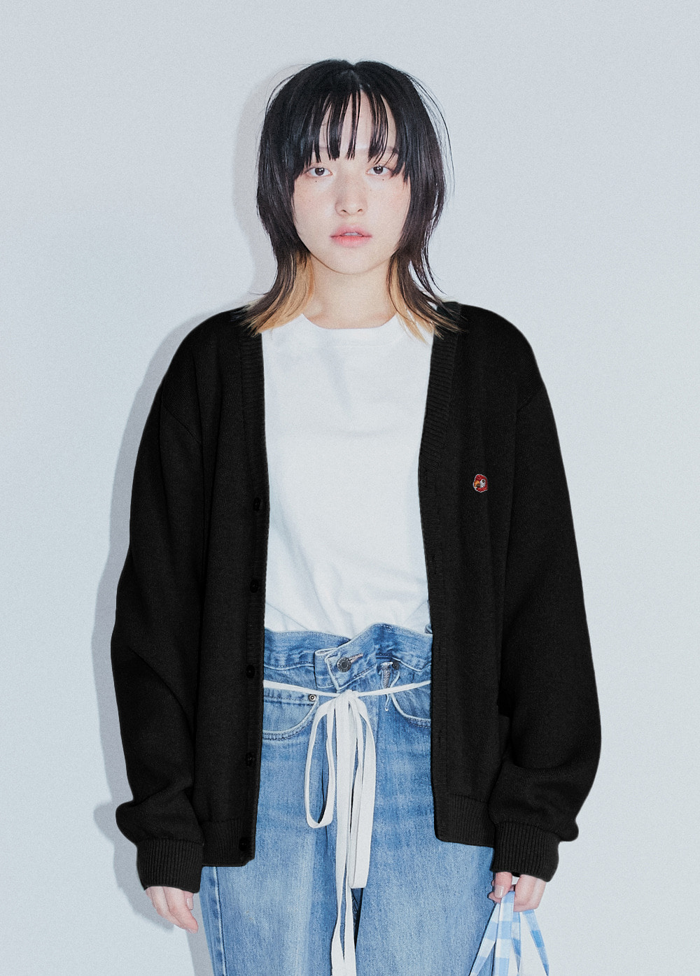 20SS KANCO LOGO CARDIGAN black