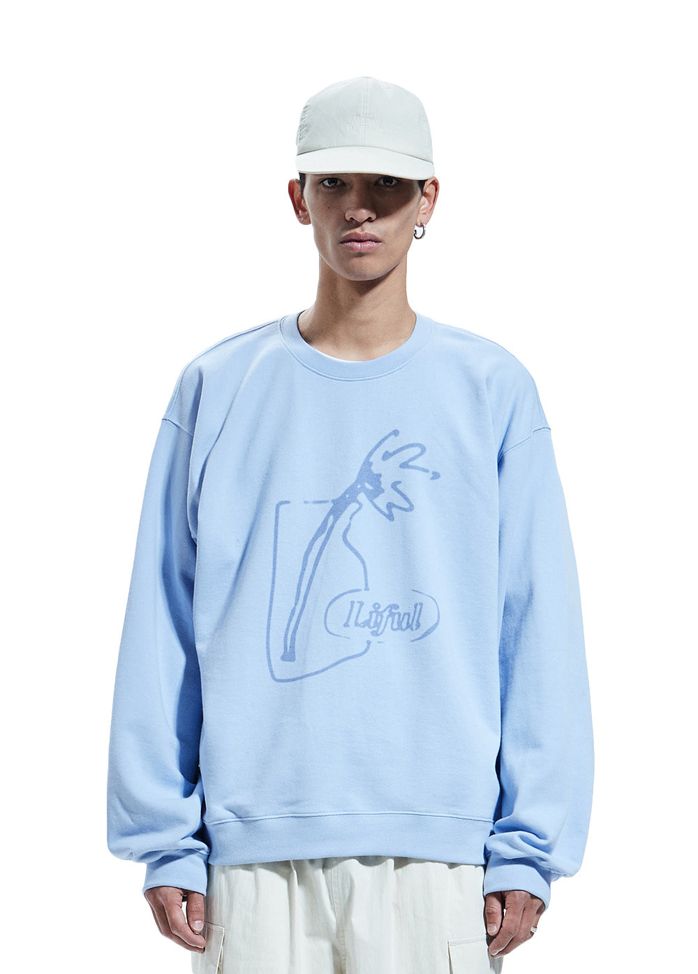 SPREAD VASE SWEATSHIRT powder blue