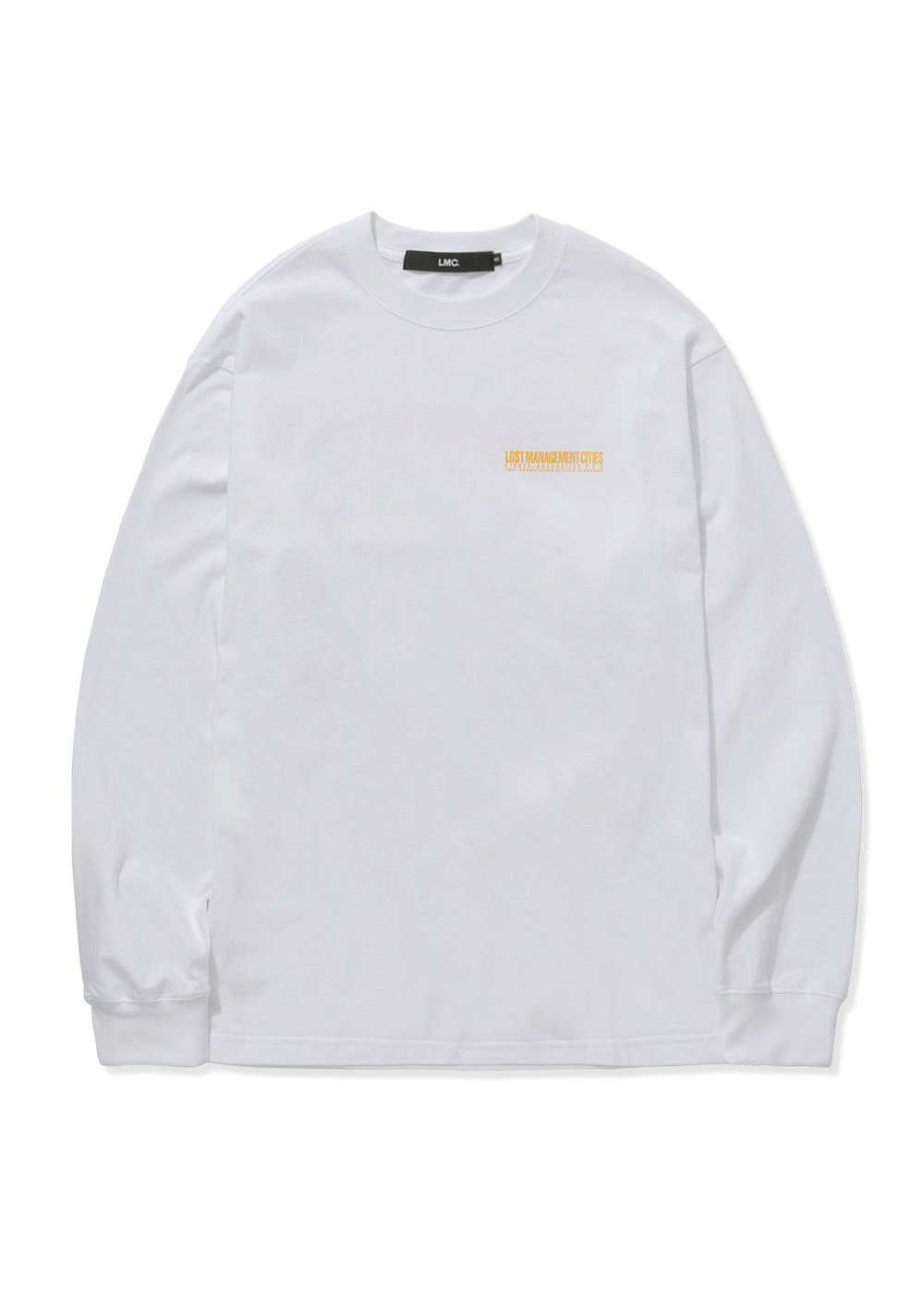 LMC AUTHORIZED LOGO LONG SLV TEE white