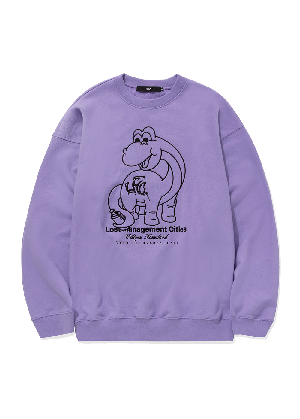 LMC DINO OVERSIZED SWEATSHIRT powder purple