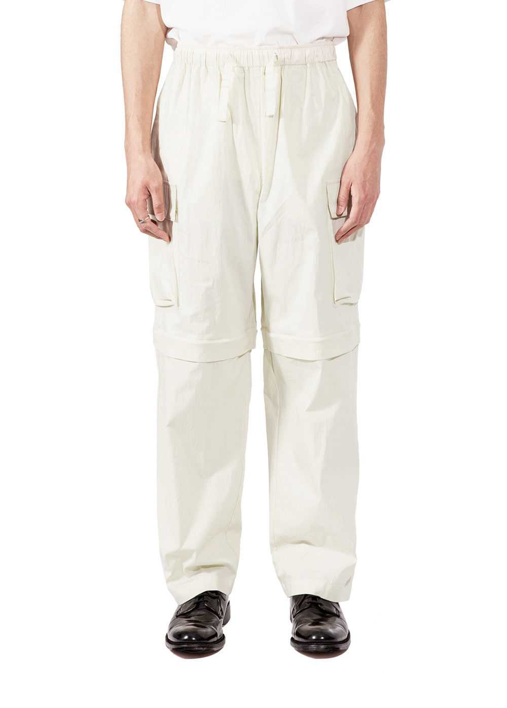 EASY CONVERTIBLE CARGO PANTS ivory