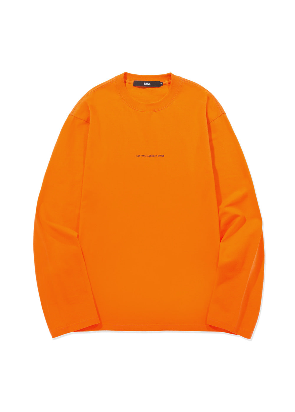 LMC MICRO FN LONG SLV TEE orange