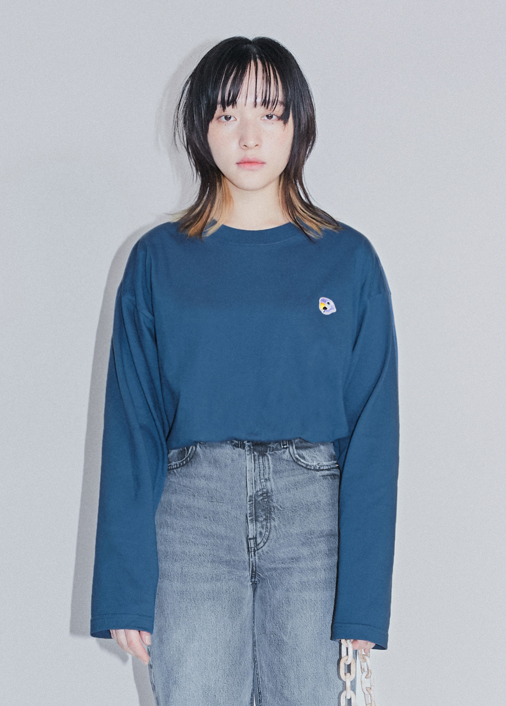 KANCO LOGO LONG SLEEVE TEE navy