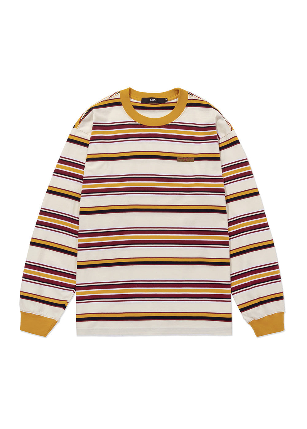 LMC MULTI STRIPE LONG SLV TEE cream