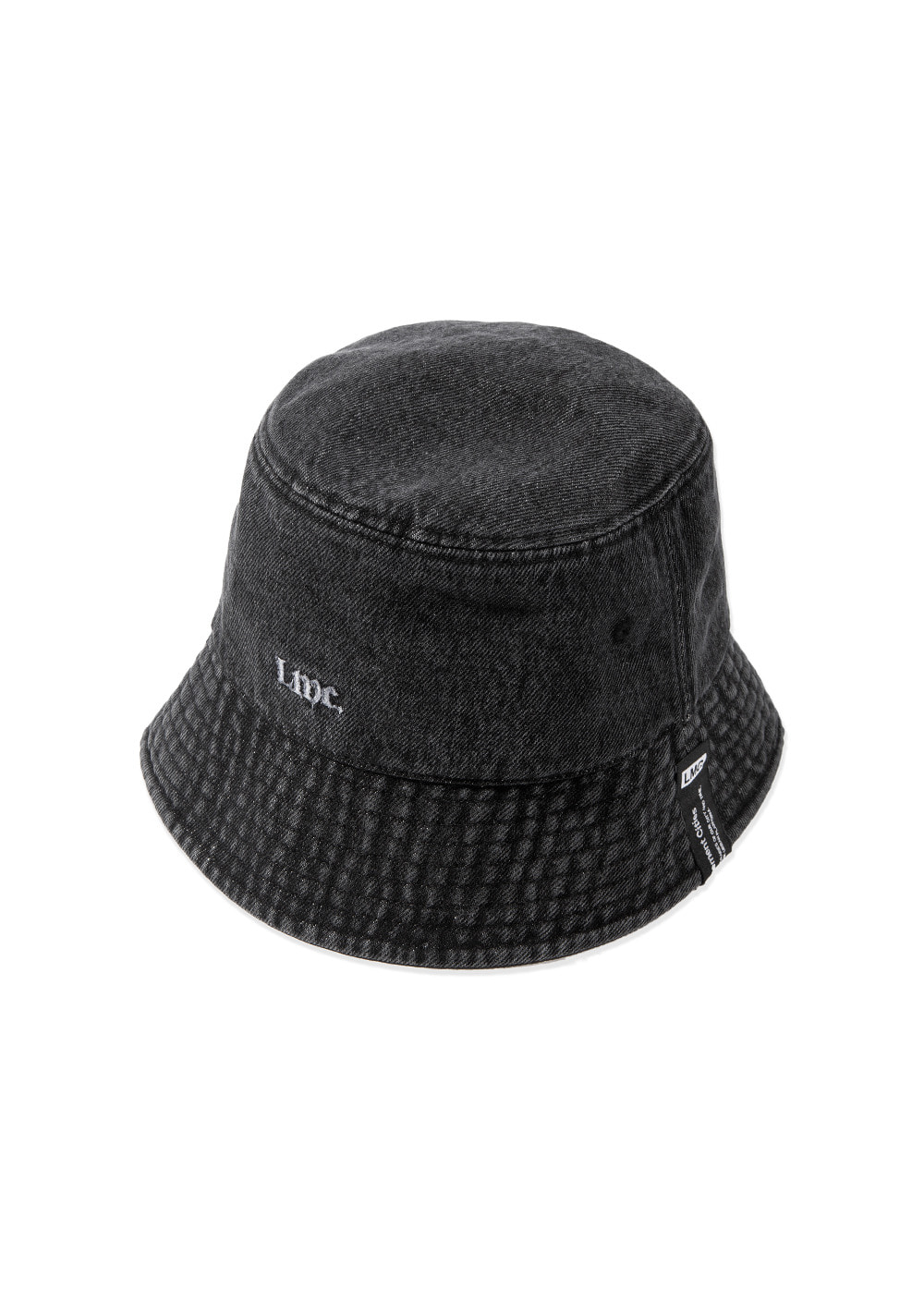 LMC STONE WASHED DENIM BUCKET HAT black