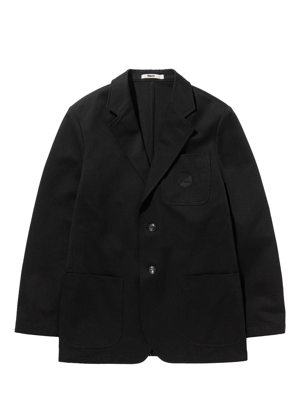 FUZZ COTTON 2B BLAZER black
