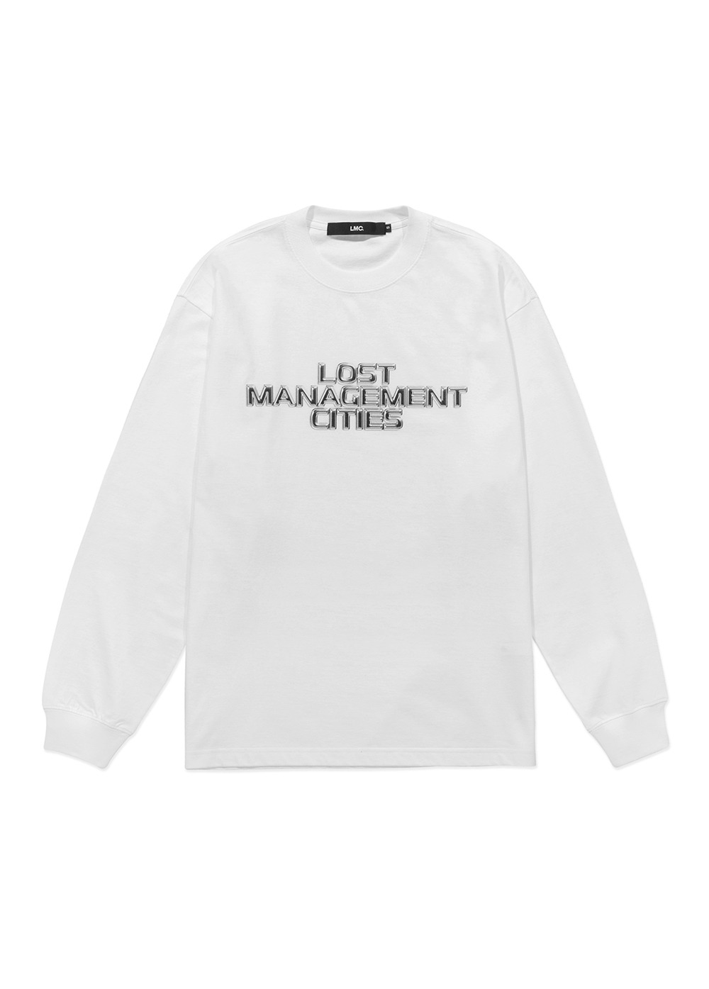 LMC THREE TIER CHROME LONG SLV TEE white