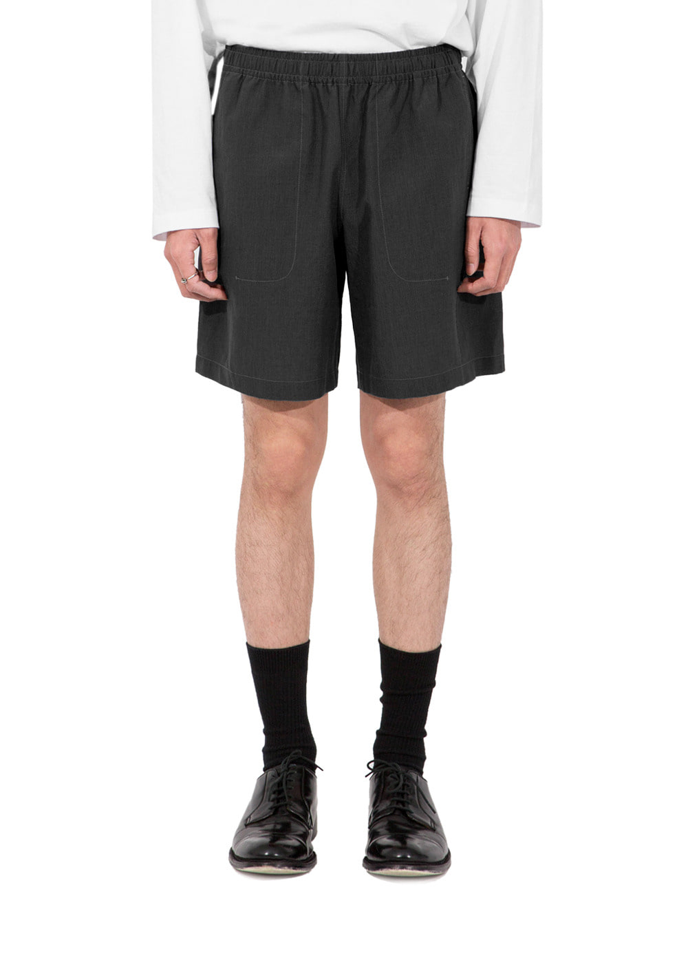 TWISTED EASY SHORTS charcoal