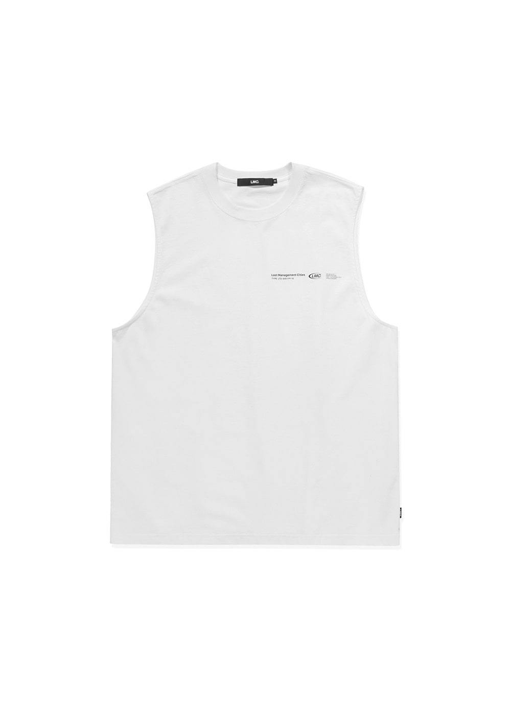 LMC LOGO PACK OVERSIZED SLEEVELESS white