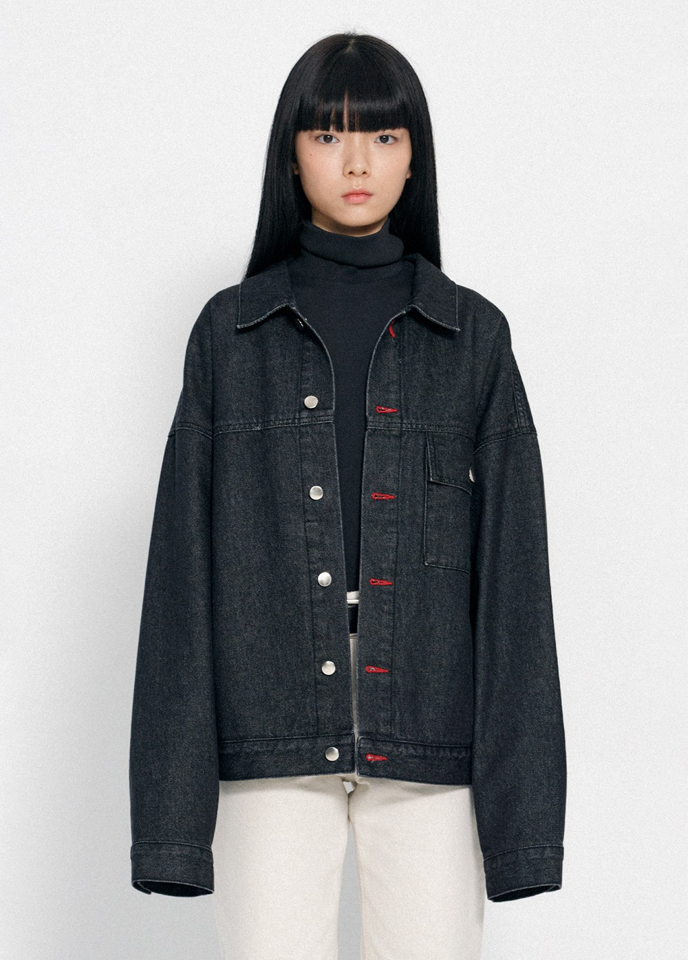 KANCO DENIM TRUCKER JACKET black denim