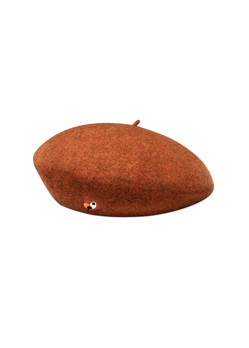 KANCO LOGO FELT BERET red brown